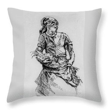 Farm Girl Throw Pillow