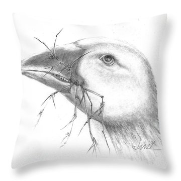 Farm Goose Throw Pillow