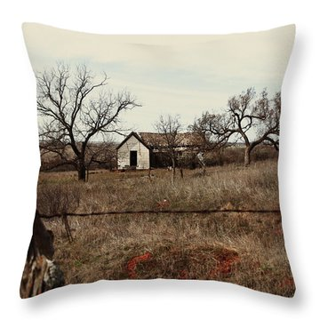 Farm House, Abandoned Throw Pillow