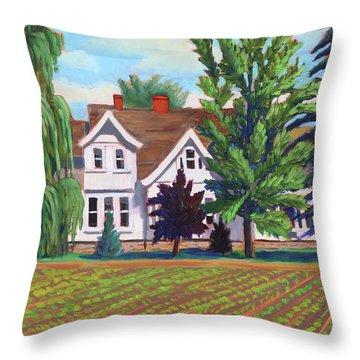 Farm House - Chinden Blvd Throw Pillow