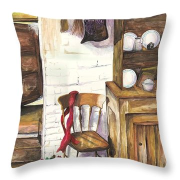Farm House Throw Pillow by Darren Cannell