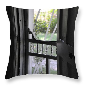 Farm House Screen Door Throw Pillow by Wilma  Birdwell