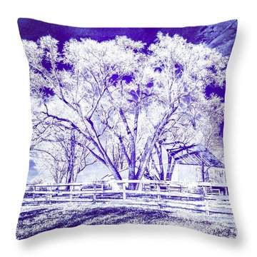 Farm In Suburbia With Wildcat Flare Throw Pillow