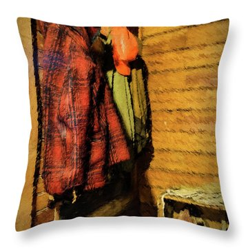 Farm Jackets Throw Pillow