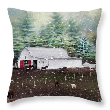 Throw Pillow featuring the photograph Farm Life by Darren Fisher