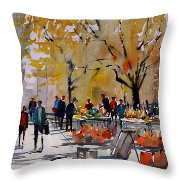 Farm Market - Menasha Throw Pillow