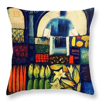 Farm Market   Throw Pillow