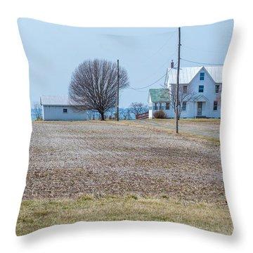 Farm On The Bay Throw Pillow