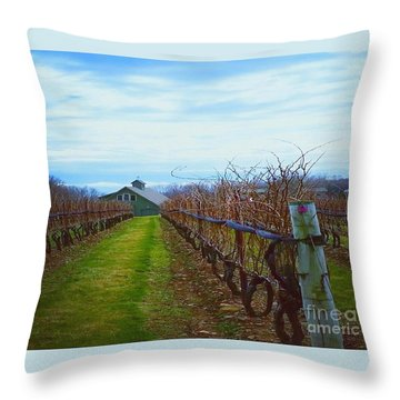 Farm Throw Pillow by Raymond Earley