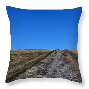 Farm Road - The Berkshires Throw Pillow