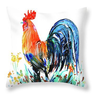 Farm Rooster Throw Pillow