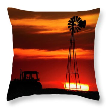 Farm Silhouettes Throw Pillow