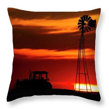 Farm Silhouettes Throw Pillow