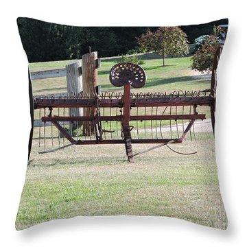 Farm Tool Throw Pillow