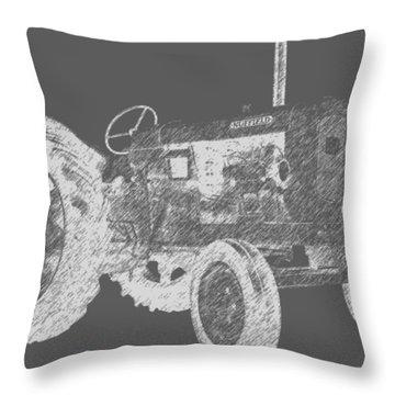 Farm Tractor Tee Throw Pillow