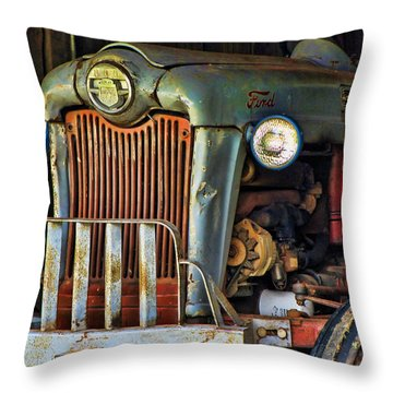 Farm Tractor Two Throw Pillow