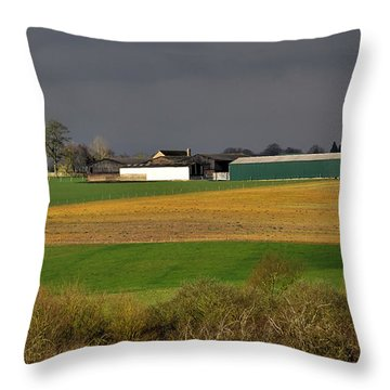 Throw Pillow featuring the photograph Farm View by Jeremy Hayden