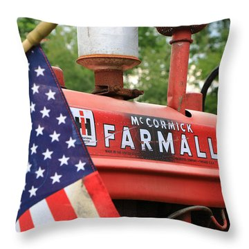Throw Pillow featuring the photograph Farmall 2 by Rick Morgan