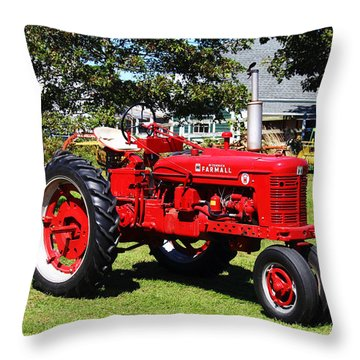 Farmall At The Country Fair Throw Pillow