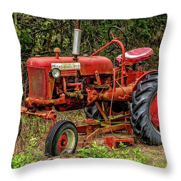 Throw Pillow featuring the photograph Farmall Cub by Christopher Holmes