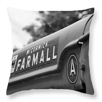 Throw Pillow featuring the photograph Farmall by Rick Morgan