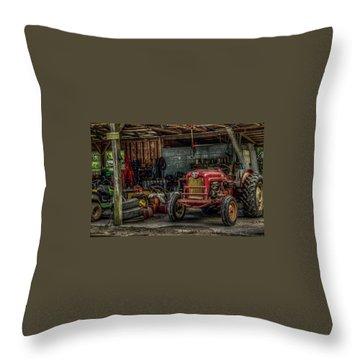Farmall Tractor - Forever Florida Throw Pillow