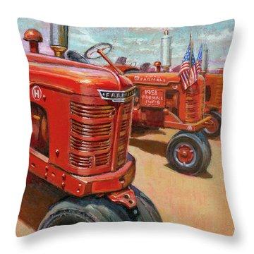 Farmall Tractor Throw Pillow