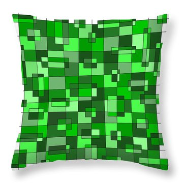 Farmer Green Throw Pillow