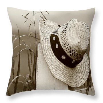 Farmers Hat Throw Pillow