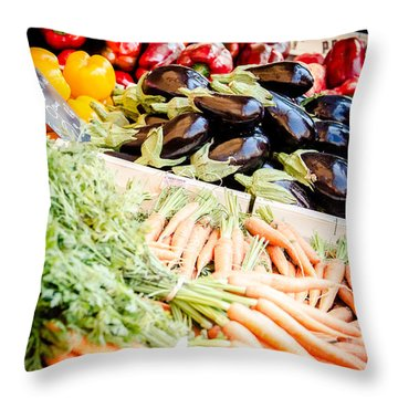Throw Pillow featuring the photograph Farmer's Market by Jason Smith