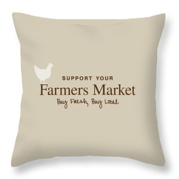Throw Pillow featuring the digital art Farmers Market by Nancy Ingersoll