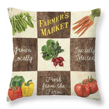 Farmer's Market Patch Throw Pillow by Debbie DeWitt