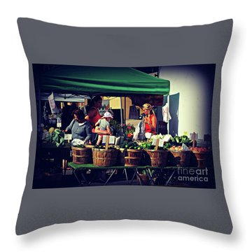 Farmers Market Produce  Throw Pillow