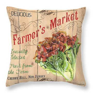 Farmer's Market Sign Throw Pillow