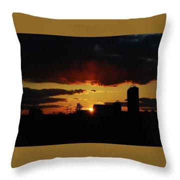 Farmer's Sunset Throw Pillow