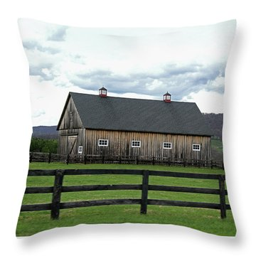 Throw Pillow featuring the photograph Farmhouse In Northern Virginia by Emanuel Tanjala