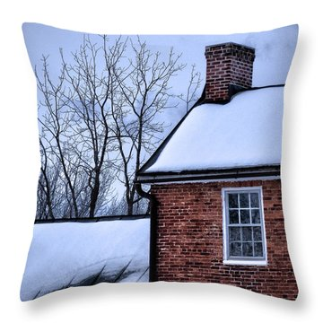 Throw Pillow featuring the photograph Farmhouse Window by Robert Geary