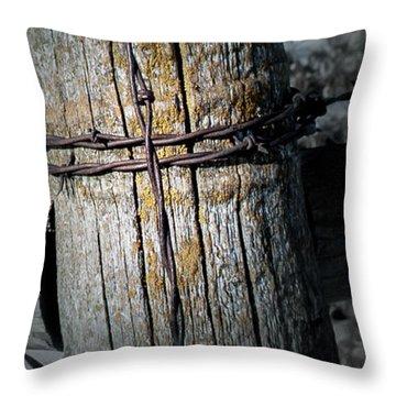 Farming Cross Throw Pillow