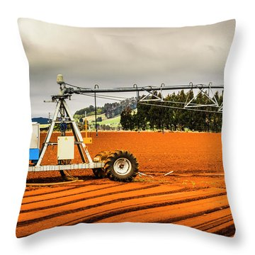Farming Field Equipment Throw Pillow