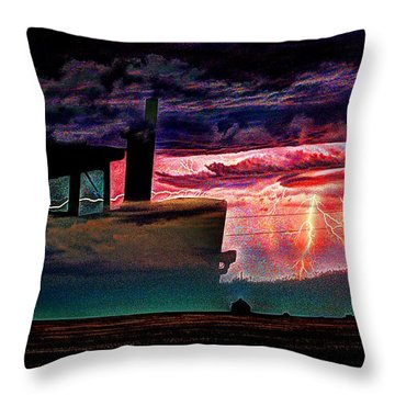 Farming Forcast  Throw Pillow