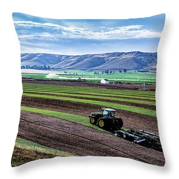 Farming In Pardise Agriculture Art By Kaylyn Franks Throw Pillow