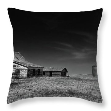 Farming Life Mono 1 Throw Pillow
