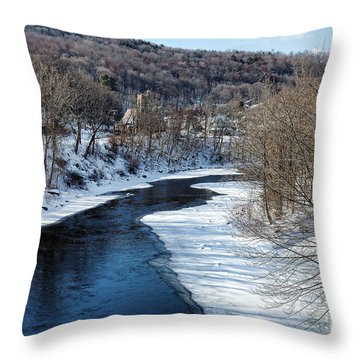 Farmington River Throw Pillow
