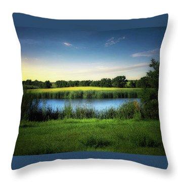 Farmland Waters Throw Pillow