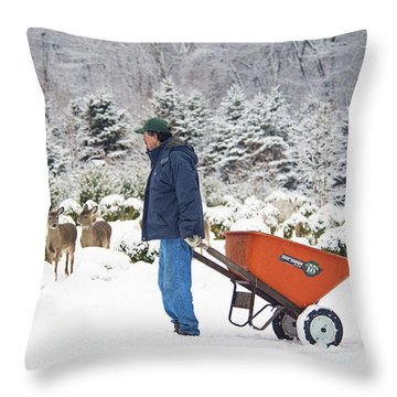 Throw Pillow featuring the photograph Farmlife by Angel Cher