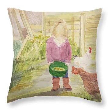 Farm's Life  Throw Pillow