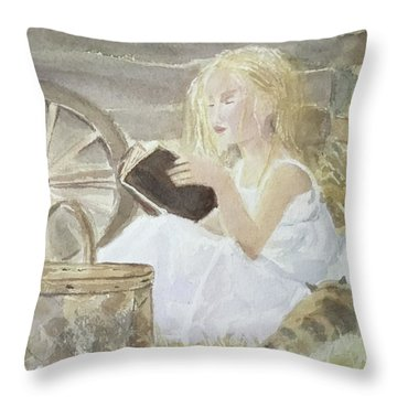Farm's Reader Throw Pillow