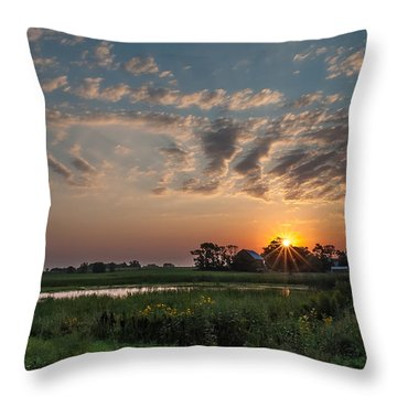 Farmstead Sunrise Throw Pillow