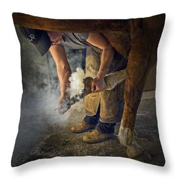 Farrier Visit - 365-46 Throw Pillow