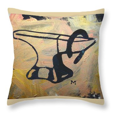 Throw Pillow featuring the painting Farrier's Friend by Candace Shrope